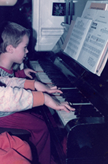 Mendel and brother at the piano (1982)